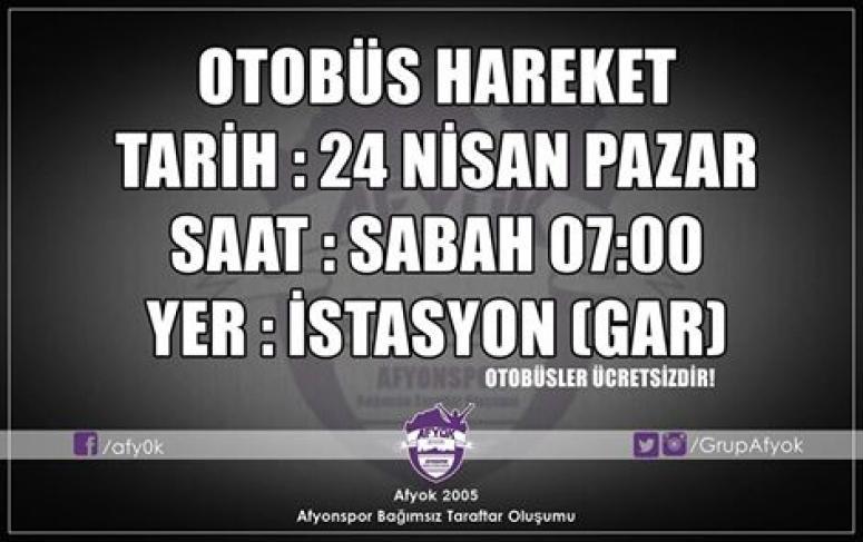 Afjet Afyonspor'lu Taraftarlar Balıkesir'e Akacak !!!