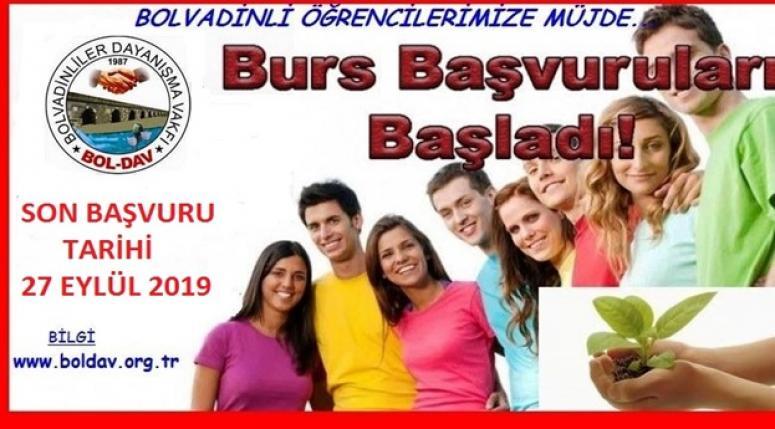 Boldav Burs şartları açıklandı !