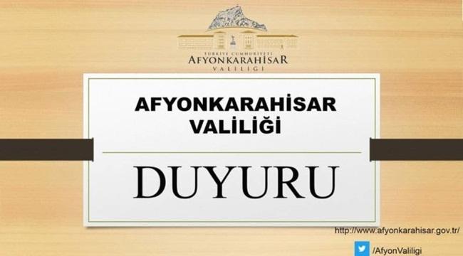 Afyonkarahisar Valiliği açıklama yaptı !!
