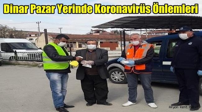 Dinar Pazar Yerinde Koronavirüs Önlemleri
