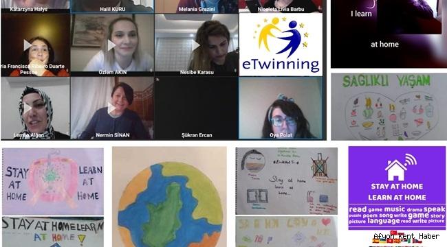 İhsaniye Karacaahmet Ortaokulu eTwinning Projesi başlattı!