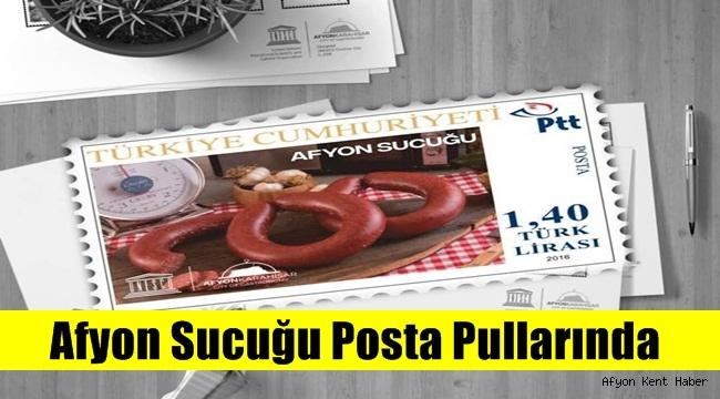 Afyon'a özgü Sucuklu Posta Pulu basıldı! !