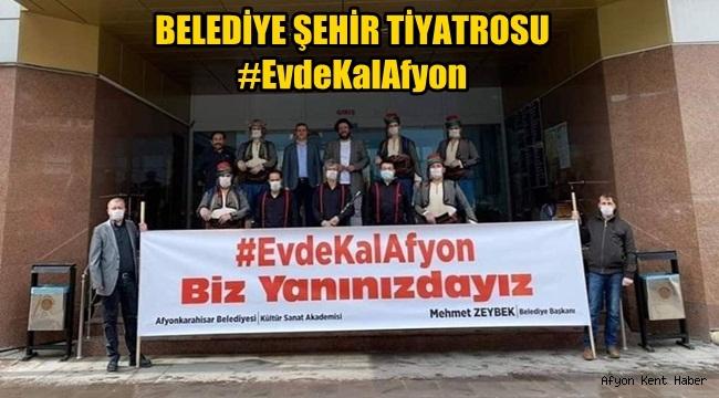 Afyon Belediye Şehir tiyatrosundan anlamlı pankart!
