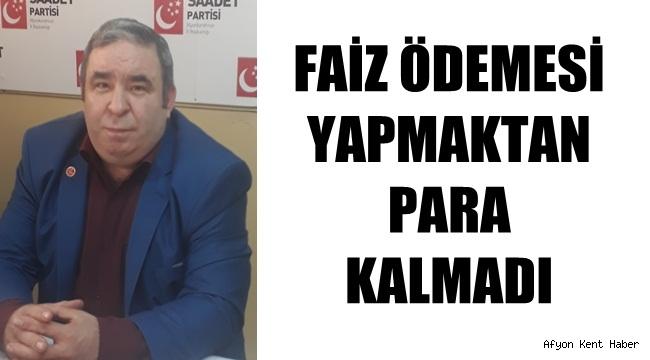 Afyon Saadet Partisi Erhan Akpınar Basın açıklaması