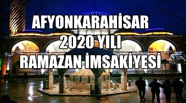 Afyonkarahisar 2020 yılı Ramazan imsakiyesi