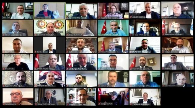 Atso Yönetim Kurulu 3. Kez Video Konferans ile toplandı