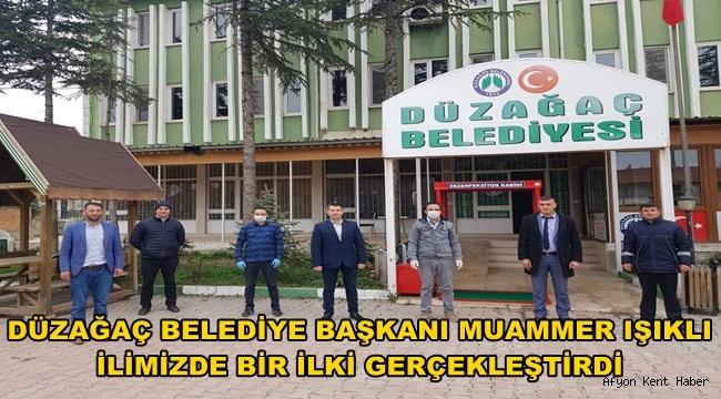 Başkan Muammer Işıklı, halka açık dezenfeksiyon kabini kurdurdu
