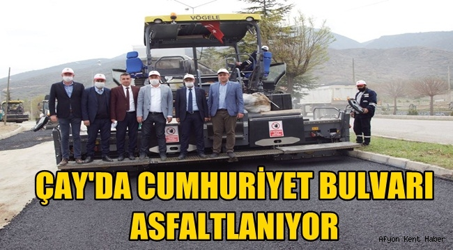 Çay'da Cumhuriyet Bulvarı Asfaltlanıyor!