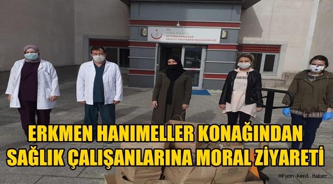 Hanımeller Konağı yöneticilerinden sağlık çalışanlarına ziyaret