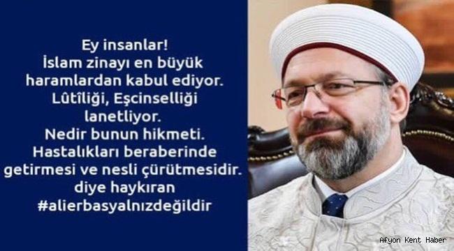 İbrahim Yurdunuseven, Ali Erbaş Yanlız değildir !!