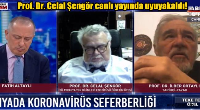 Prof. Dr. Celal Şengör canlı yayında uyuyakaldı!