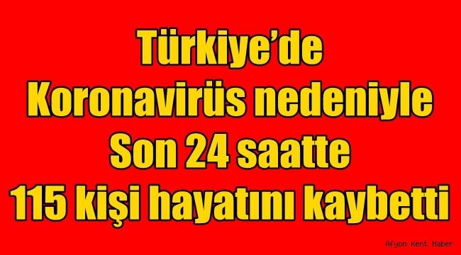 Türkiye 15 Nisan Koronavirüs can kaybı ve Vaka sayısı