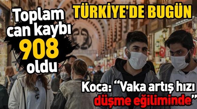 Türkiye'deki koronavirüs son tablo ! Malesef toplam can kaybı 908 oldu