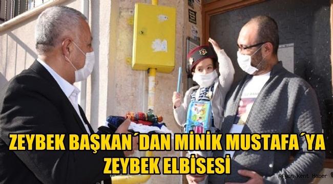 Zeybek Başkan´dan minik Mustafa´ya Zeybek Elbisesi
