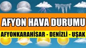 Afyon'da Sıcaklıklar düşüyor Yağmur Geliyor