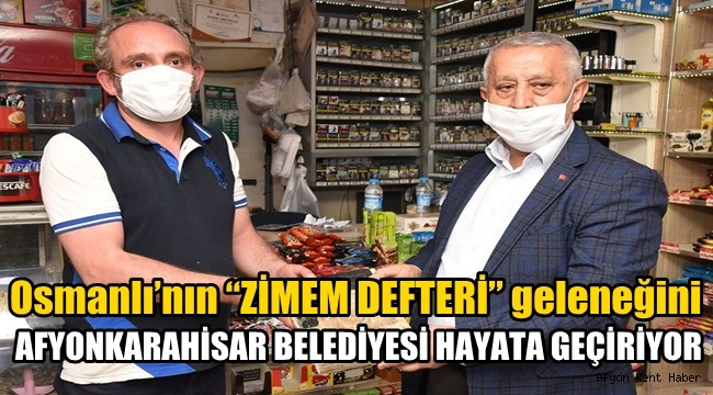 Afyon'da Zimem Defteri geleneği hayata geçiyor !!