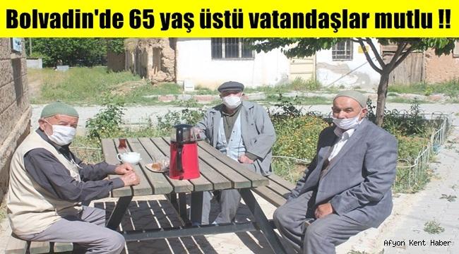 Bolvadin'de 65 yaş üstü vatandaşlar mutlu !!