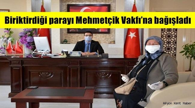 Emirdağ'lı Dursun Anne, Biriktirdiği parayı Mehmetçik Vakfı'na bağışladı