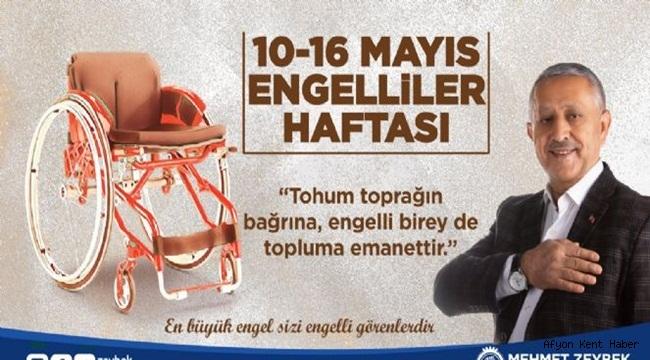 Mehmet Zeybek Engelliler Haftası mesajı yayınladı!