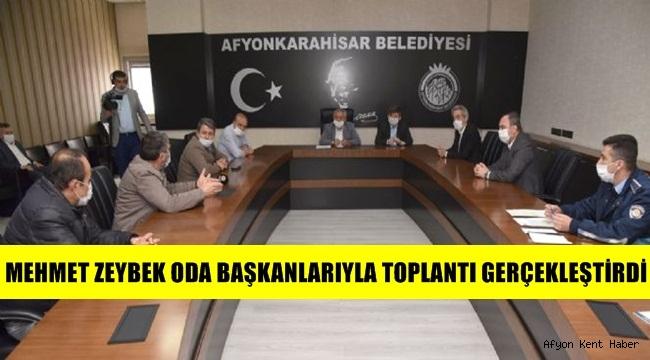 Mehmet Zeybek Oda Başkanlarıyla toplantı gerçekleştirdi