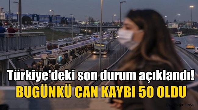 Türkiye'de Koronavirüs bir günde 50 can aldı