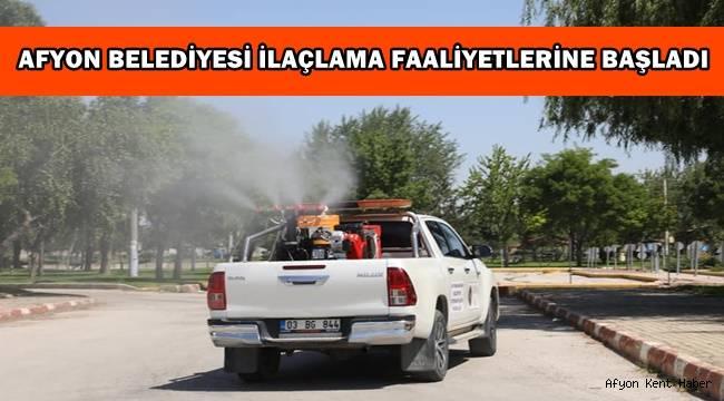 Afyon Belediyesi İlaçlama Faaliyetlerine Başladı