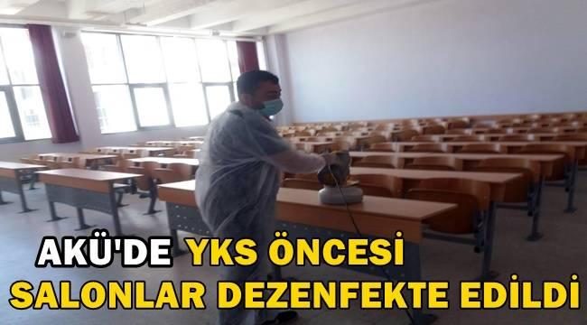 Akü'de YKS Öncesi Salonlar Dezenfekte Edildi