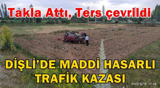 Bolvadin'de Trafik Kazası ! ! Takla attı, ters çevrildi..