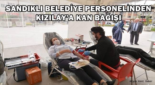 Sandıklı Belediyesi çalışanları kan bağışladı !