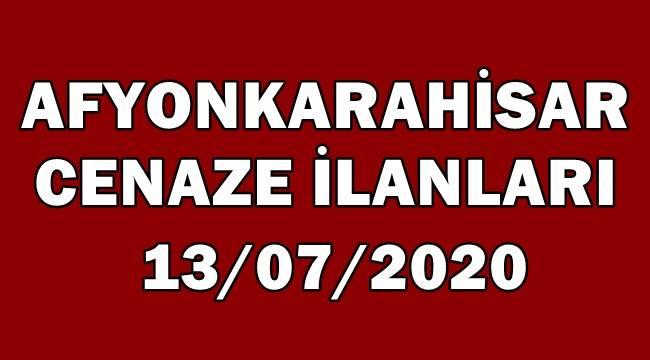 13 Temmuz 2020 Afyon Cenaze İlanları !
