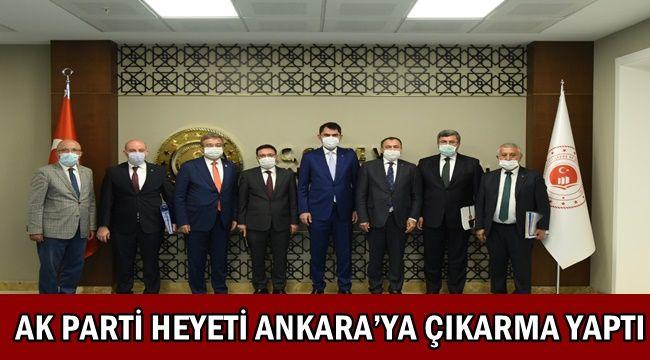 Afyon AK Parti heyeti Ankara'ya çıkarma yaptı