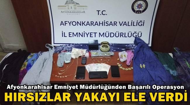 Afyon'da Hırsızlık yapanlar yakayı ele verdi !!