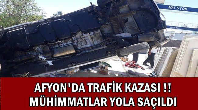 Afyon'da Mühimmat Fabrikasına ait araç devrildi !!
