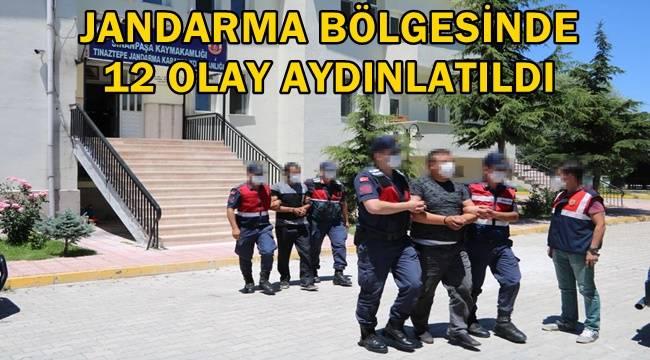 Afyon Jandarma Komutanlığından büyük başarı !! 12 olay aydınlatıldı !!
