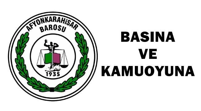 """Afyonkarahisar Barosu Başkanlığı """"BAROLAR BÖLÜNMEMELİDİR"""""""