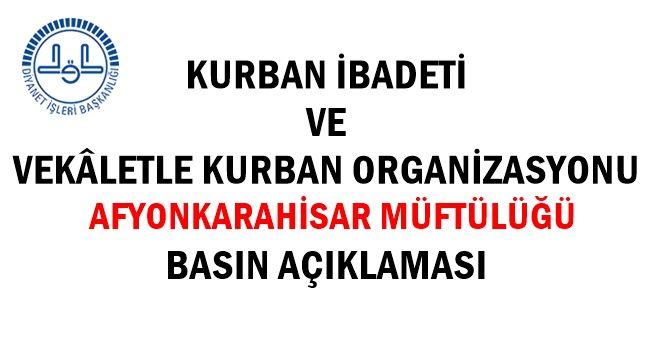 Afyonkarahisar Müftülüğü Kurban Organizasyonu Basın açıklaması !