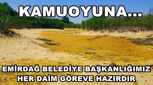 Emirdağ Pınarbaşı Göleti Açıklaması !