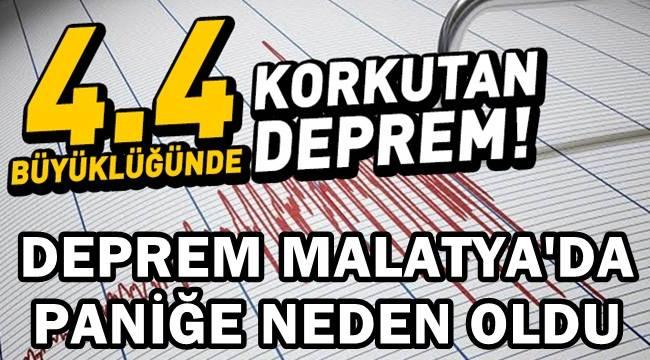Malatya'da Deprem !