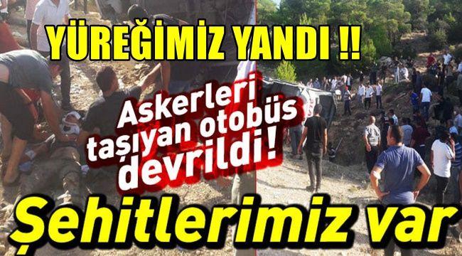 Mersin'in Mut ilçesinde 5 askerimiz şehit oldu!