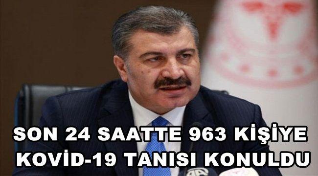 Son 24 saatte Kovid-19 tanısı konulan hasta 963 oldu !
