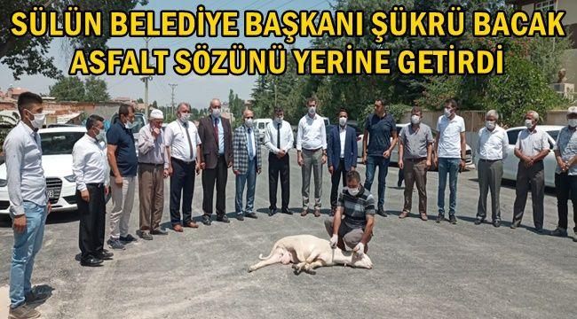 Sülün Belediyesi, Asfalt Sözünü yerine getirdi !!