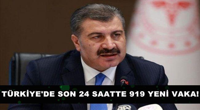 Türkiye'de Son 24 Saatte 919 Vaka !