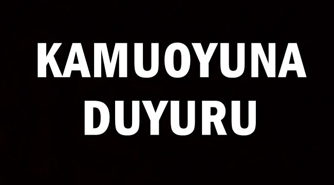 Afyon Belediyesi'nden Kamoyuna Duyuru !!