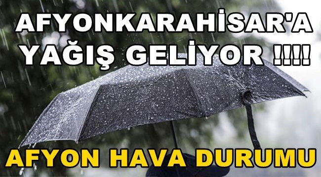 Afyon Son Dakika Yağış Uyarısı !