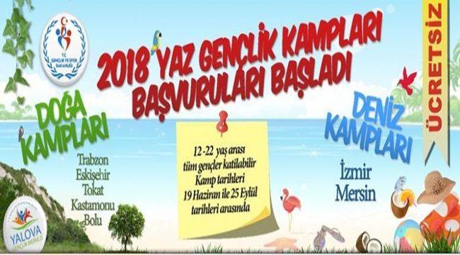 Gençlik ve Spor Bakanlığı Yaz kampları başvuruları başladı