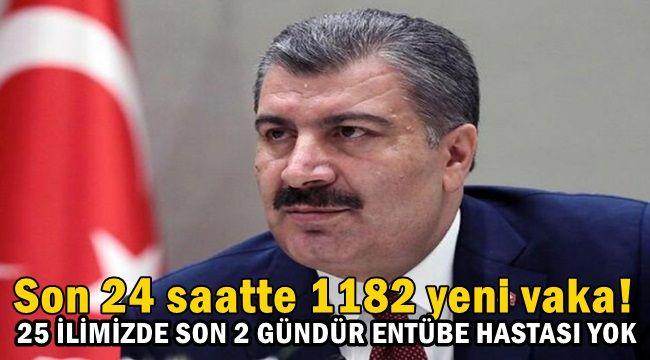Türkiye'de Son 24 Saatte 1182 Vaka !