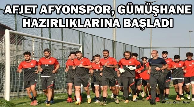 Afjet Afyonspor, Gümüşhane Hazırlıklarına Başladı!