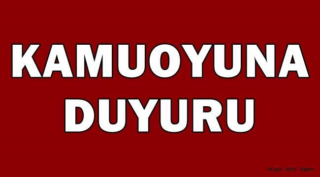 Başkan Zeybek'ten Kamuoyuna Duyuru!