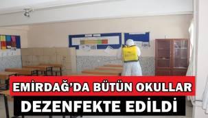 Emirdağ'da okullar dezenfekte edildi