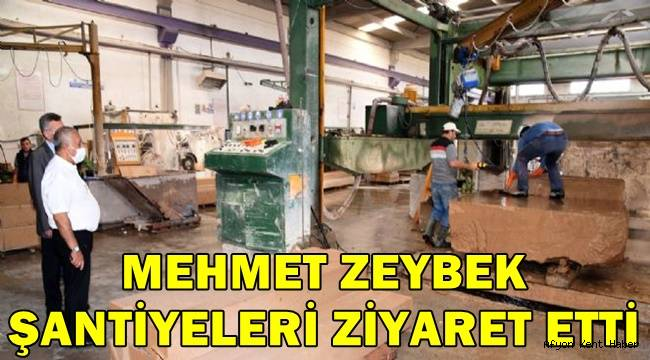 Mehmet Zeybek şantiyeleri ziyaret etti!